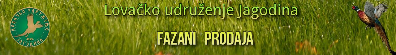 Fazani Prodaja Lovačko Udruženje Jagodina